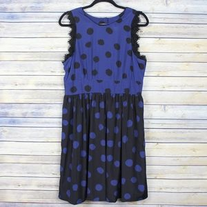 Corey Lynn Calter Split Polka Dots Open Back Dress